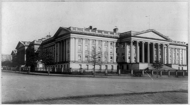 D.C., Washington, Treasury Building, 1901, exterior