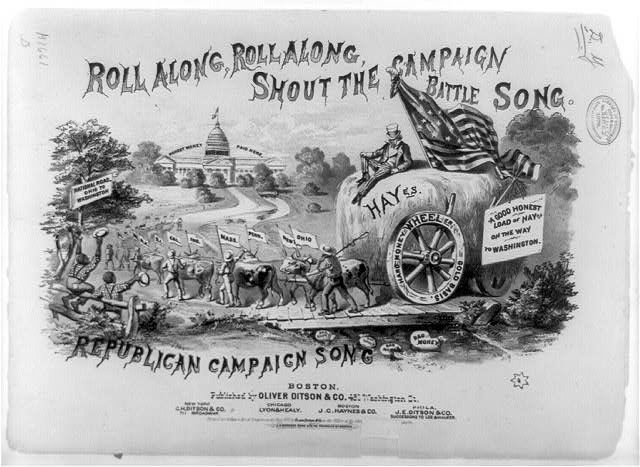 Roll along, roll along, shout the campaign battle song