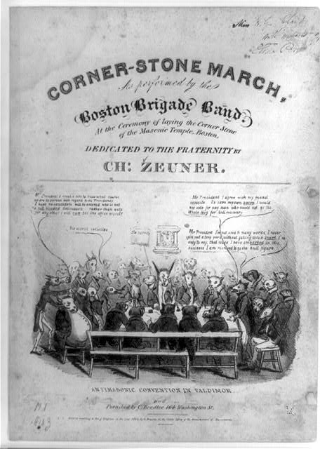AntiMasonic Convention in Valdimor [on the] corner-stone march