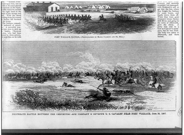 Desperate battle between the Cheyennes and Company C Seventh U.S. Cavalry near Fort Wallace, June 26, 1867