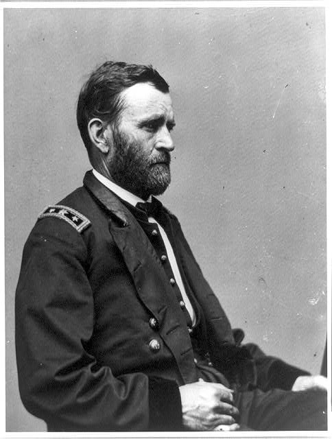 [President Ulysses S. Grant, half-length portrait, seated, facing right]