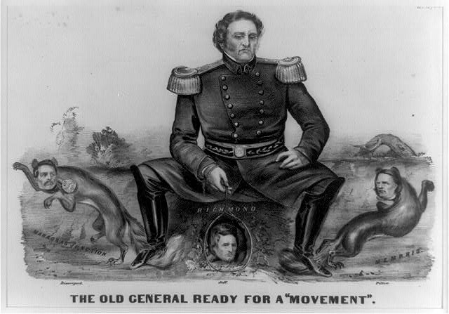"The old general ready for a ""movement"""