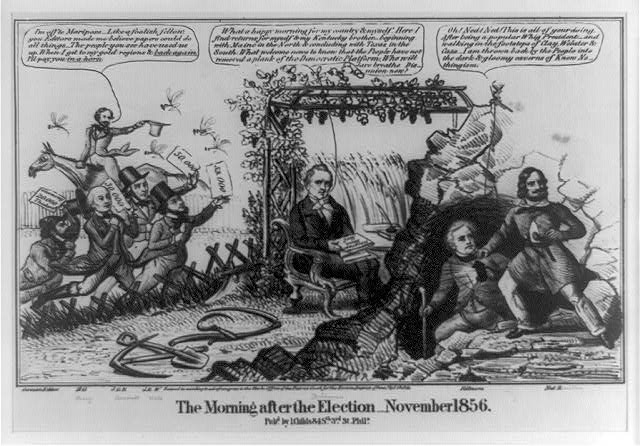 The morning after the election--November 1856
