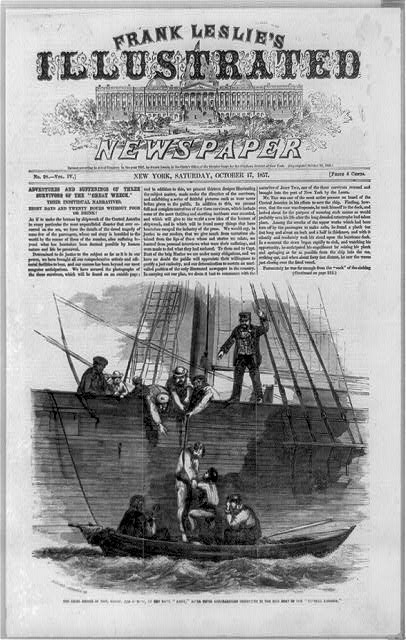 The final rescue of Tice, Grant and Dawson by the bark Mary, after their unparalleled sufferings in the life boat of the Central America