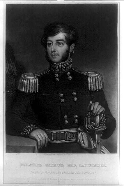 [Brigadier General George Cadwalader, half-length portrait, facing left, in uniform]