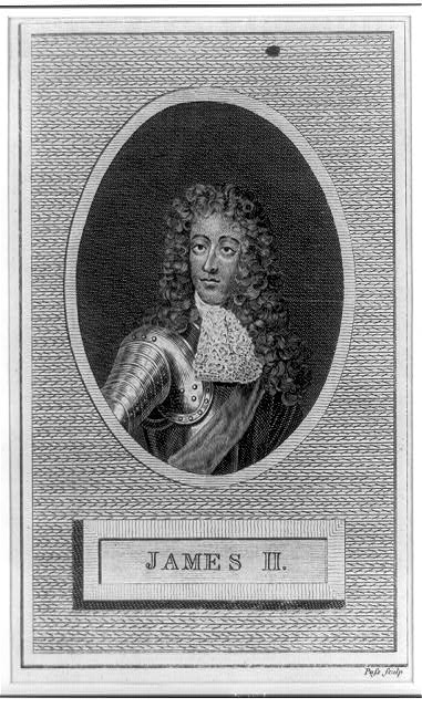 [James II, half-length portrait, facing left]