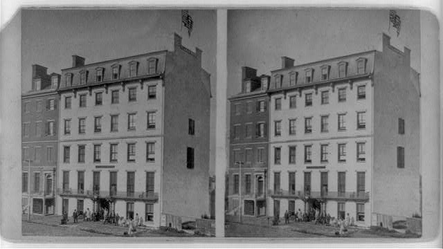 Washington's mansion, now the Hillman House, Washington, D.C.--One square from the Capitol & Baltimore & Ohio Depot