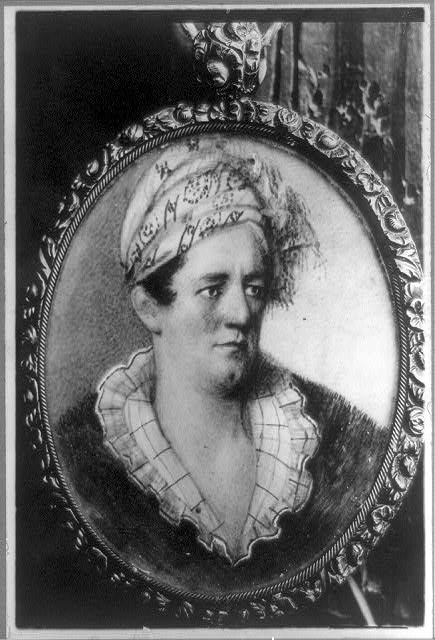 [Samuel Houston, head-and-shoulders portrait in oval medallion, facing right, in Cherokee dress]