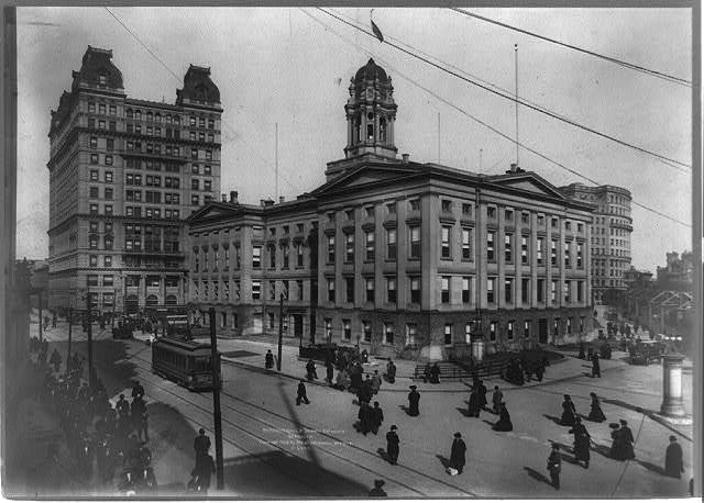 Borough Hall and subway entrance, Brooklyn