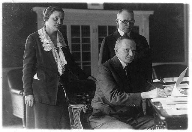 Miss Mabel Willebrandt and Congressman I.N.[sic] Foster