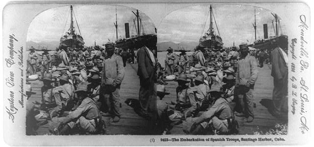 The embarkation of Spanish troops, Santiago Harbor, Cuba