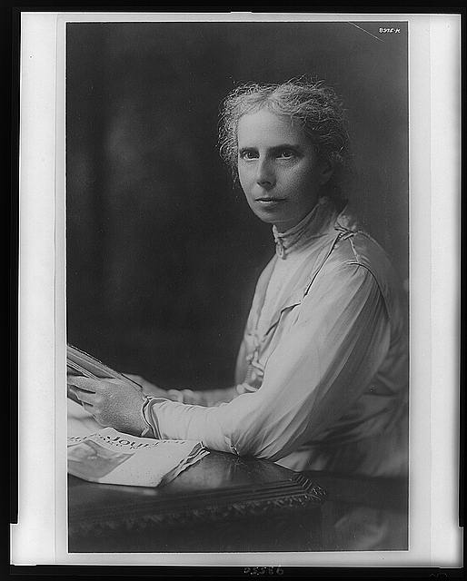 [Alice Stone Blackwell, head-and-shoulders portrait, facing left]