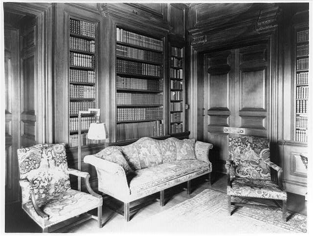 [Library in Mrs. Hamilton Rice home, Newport, Rhode Island]
