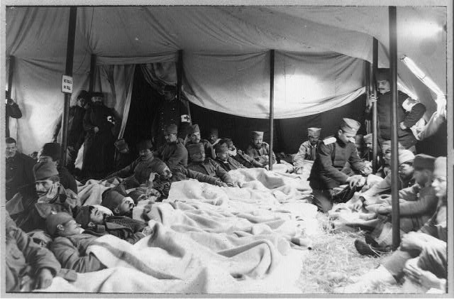 Serbian ambulance tent near Adrianople