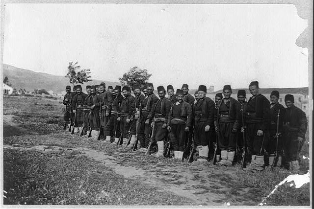 Turkish soldiers. Army of Salonica