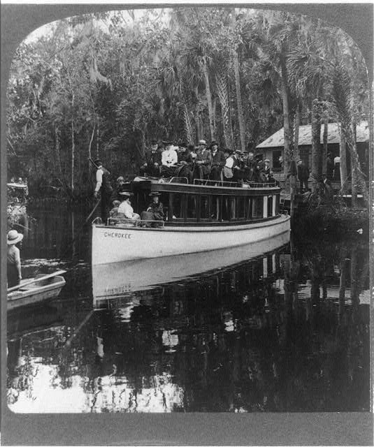 A merry party of pleasure explorers--at the last boat landing up the Tomoka River, above Ormond, Fla.