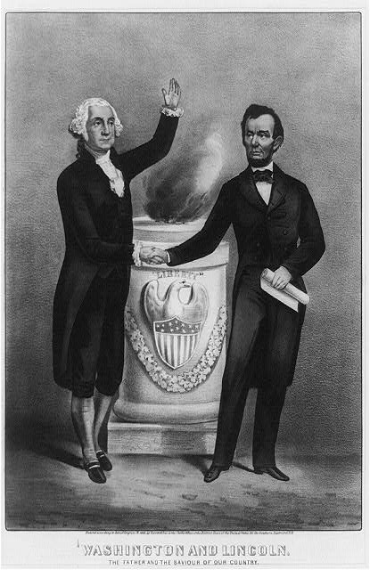 Washington and Lincoln. The father and the saviour of our country