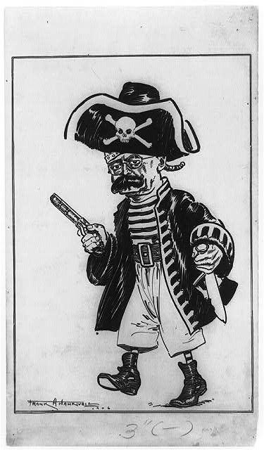 [Edward H. Harriman as a pirate]