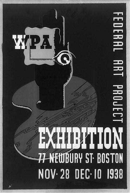 WPA Federal Art Project exhibition, 77 Newbury St., Boston, Nov. 28, Dec. 10, 1938