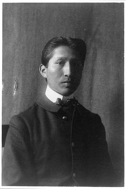 [American Indian student, half-length portrait, facing right, taken at Hampton Institute, Hampton, Va.]