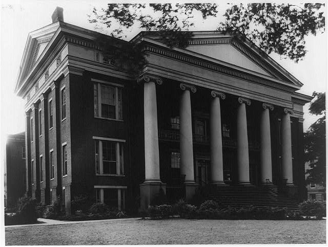 [Masonic Female Institute, Talladega, Talladega County, Alabama, facade and left side]