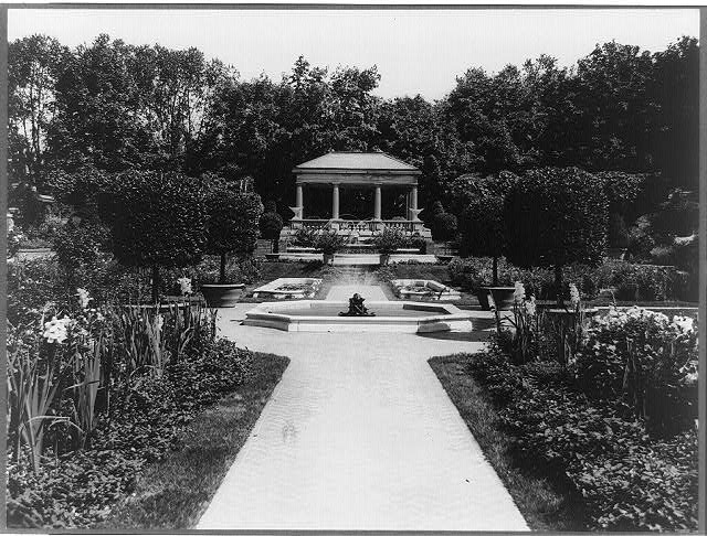 Massachusetts. Beverly Cove. Formal gardens of Miss Abbey Hunt-Evans