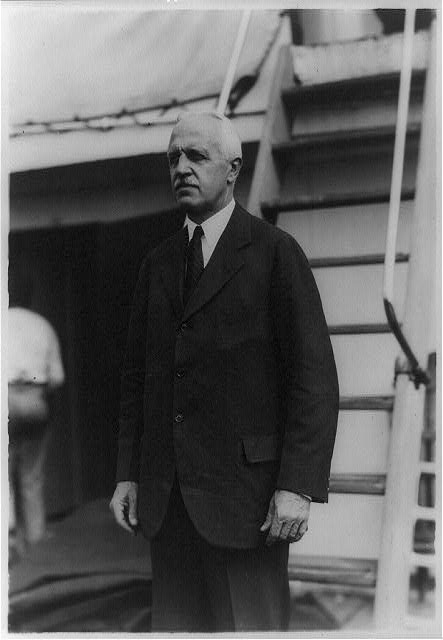 [Charles B. Curtis of New York, minister to El Salvador, three-quarter-length portrait, standing, facing left, on deck of El Salvador]