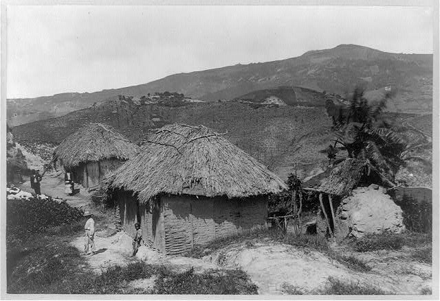Barbados, native huts