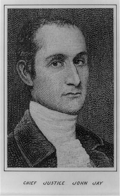 [John Jay, head-and-shoulders portrait, facing right]