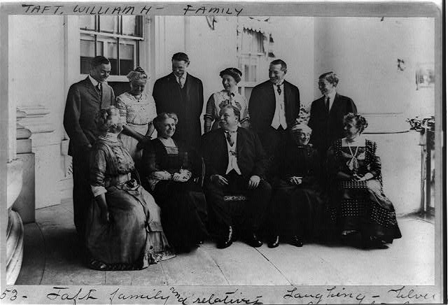 Taft family and relatives laughing, silver anniversary
