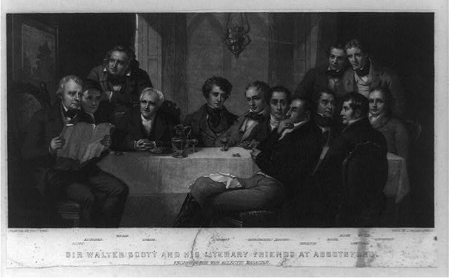 Sir Walter Scott and his literary friends at Abbotsford
