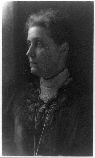 [Jane Addams, head-and-shoulders portrait, facing left]