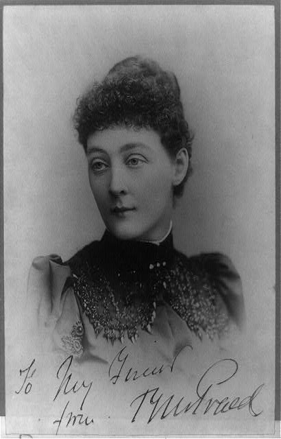 [Mrs. Campbell Praed, head-and-shoulders portrait, facing left]