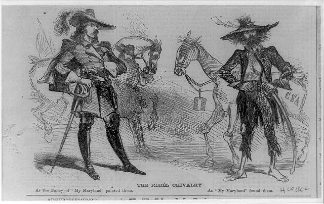 "The rebel chivalry as the fancy of ""My Maryland"" painted them; as ""My Maryland"" found them."