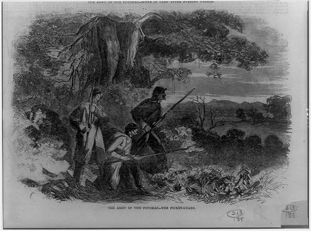 The Army of the Potomac--the picket-guard
