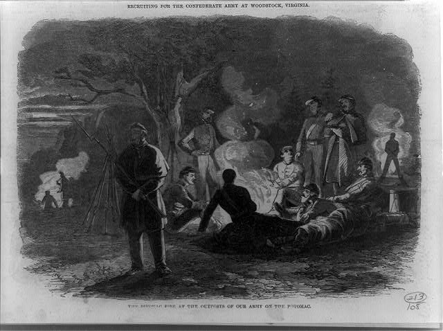 The Bivouac fire at the outposts of our army on the Potomac