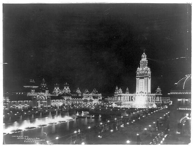 [Night view at the Pan-American Exposition, Buffalo, New York, 1901]