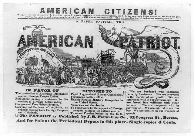 American citizens! We appeal to you in all calmness. Is it not time to pause? . . . A paper entitled the American patriot