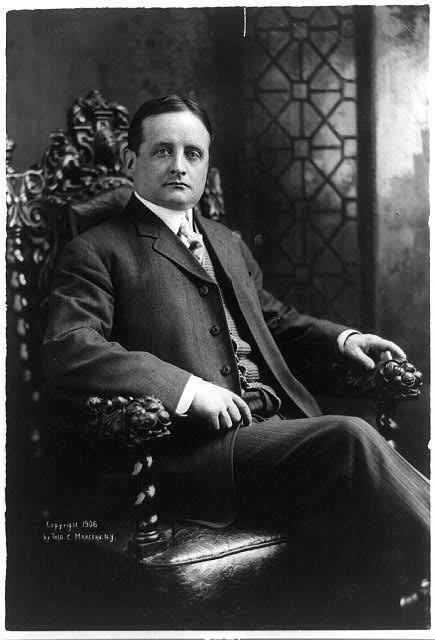 [John F. Fitzgerald, mayor of Boston, three-quarter length portrait, seated, facing right]