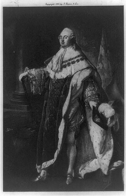 [Louis XVI, King of France, full-length portrait, standing, facing left]