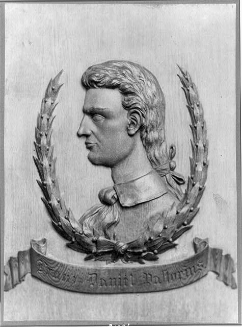 [Francis Daniel Pastorius, head-and-shoulders portrait, left profile, bas-relief, founder of Germantown, Pa.]