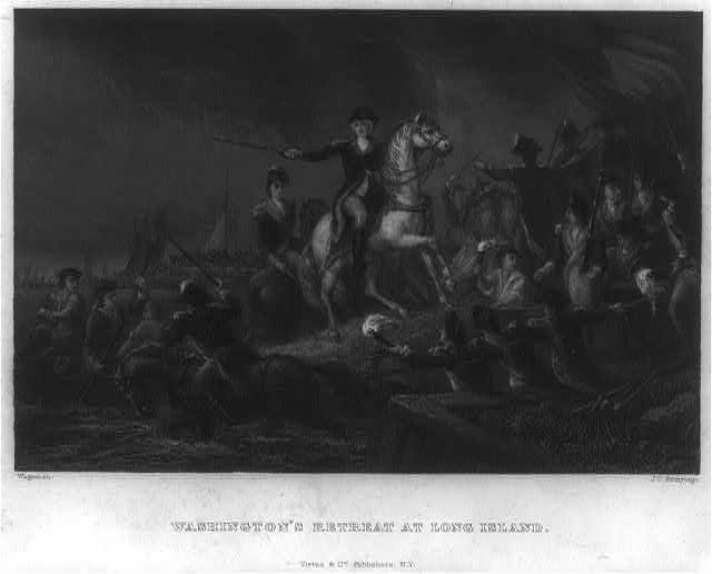 Washington's retreat at Long Island