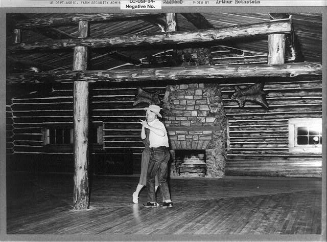 Birney, Montana. June 1939. Cowhand at a dance