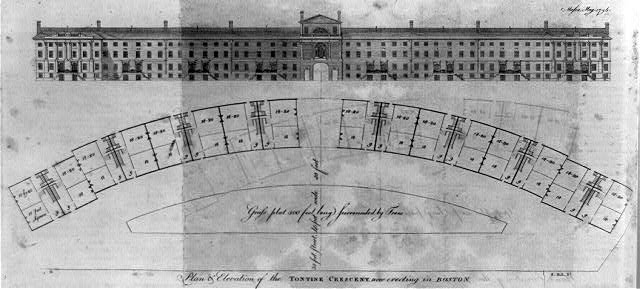 Plan & elevation of the Tontine Crescent now erecting in Boston