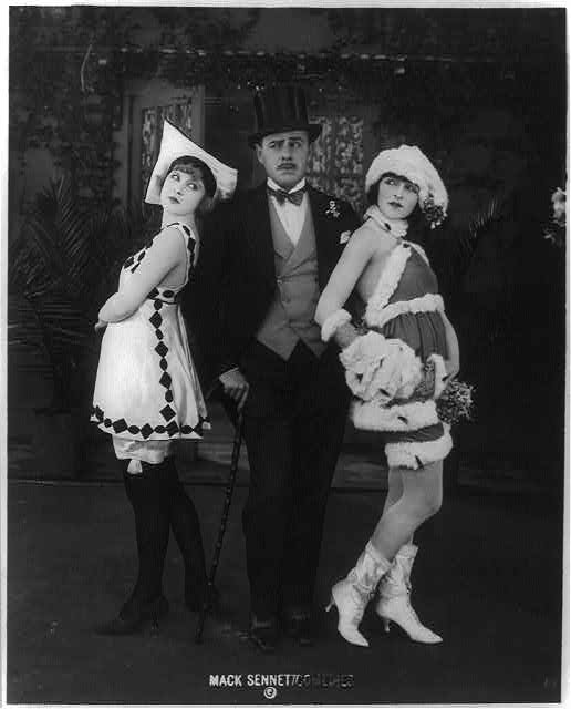 [Marvel Rea (left), Ford Sterling, and Alice Maison, appearing in Mack Sennett Comedies]