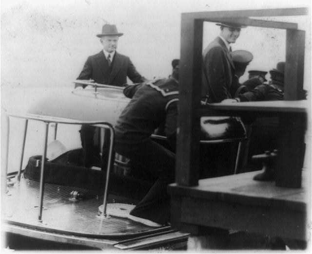 President and Mrs. Coolidge entertained at lunch on board the Lydonia, the private yacht of Cyrus H.K. Curtis ...