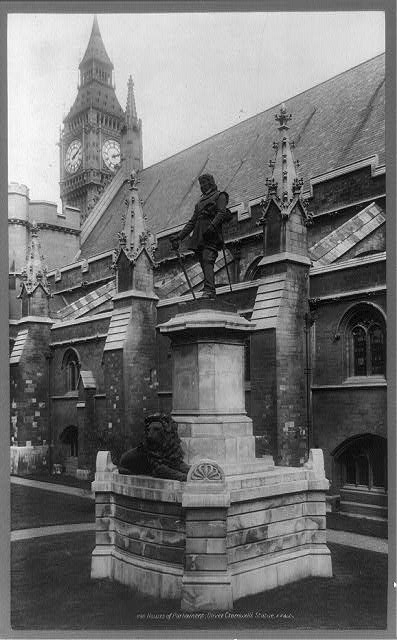 Houses of Parliament, Oliver Cromwell's statue