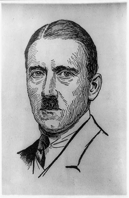 [Adolf Hitler, head-and-shoulders portrait, facing slightly left]