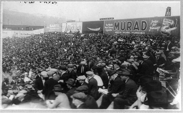 [World Series crowd for first game, Polo Grounds, N.Y.]