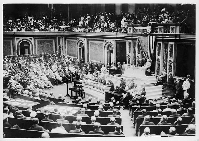 [Congress in session in U.S. Capitol]